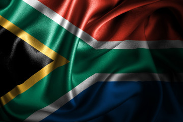 South Africa Silk Satin Flag