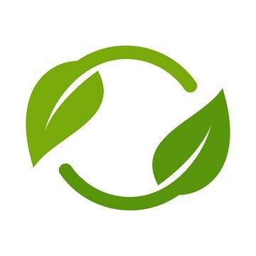 leaf logo. Nature icon. ecology symbol. vector eps 08.