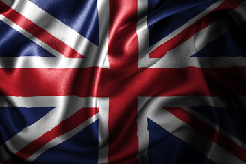 United Kingdom Silk Satin Flag