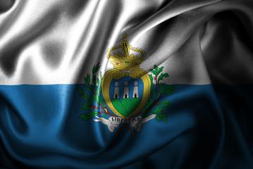 San Marino Silk Satin Flag