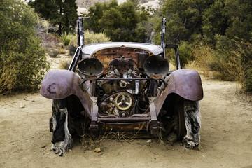 Ancient Abandoned Model T Pickup Truck at Joshua Tree