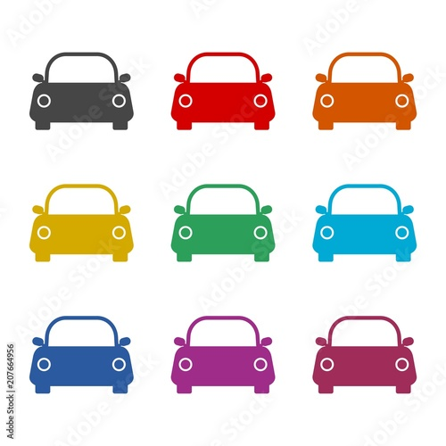 Car Icon Color Icons Set Stock Image And Royalty Free Vector Files