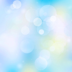 Blue bokeh abstract background blur