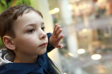 Boy in elevator
