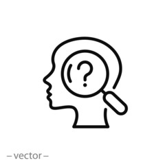 human psychology research, icon vector