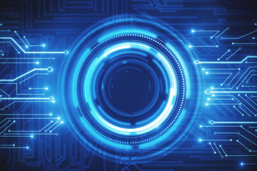 Digital business interface background