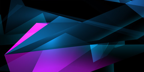 Creative polygonal art wallpaper