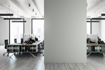Modern coworking interior with copyspace Wall mural