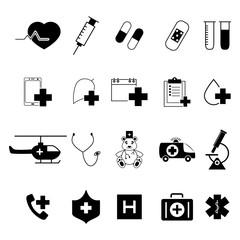 Set of Medical black icons