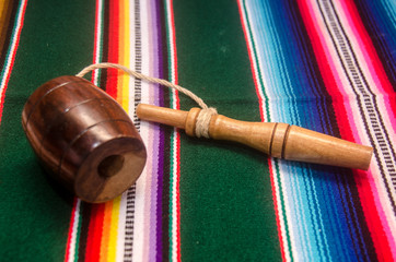 traditional mexican balero and tapete