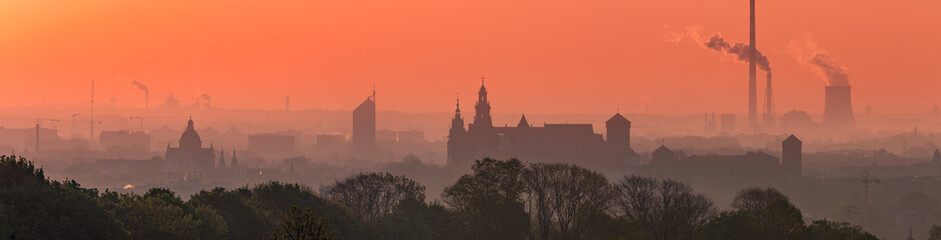 Krakow Old Town in early morning