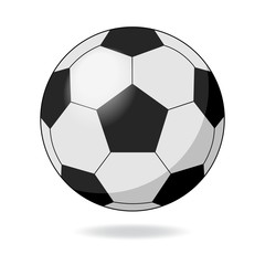 Black and white soccer football ball.