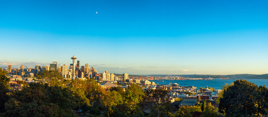 Panorama of Seattle and Puget Sound