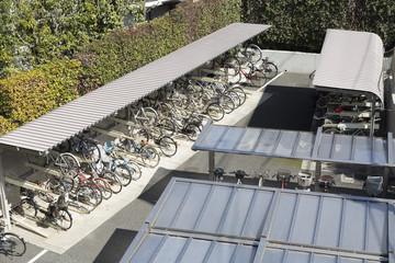 住宅 駐輪場 アパート マンション イメージ