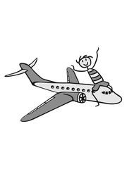 spaß reiten linienflugzeug flugzeug fliegen pilot urlaub reisen flug jumbojet groß design cool clipart