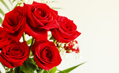 Bouquet of red roses.