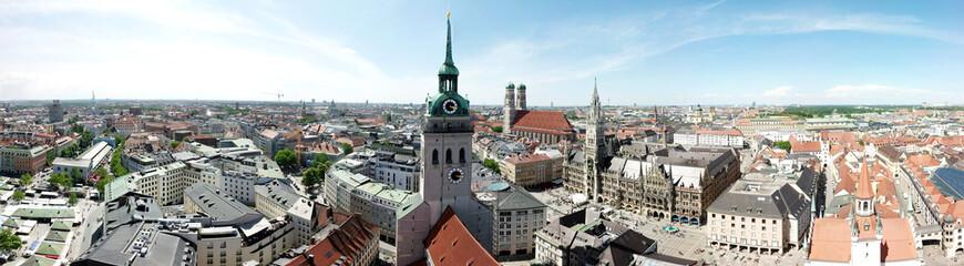 Panoramaluftaufnahme der Innenstadt in München, Deutschland