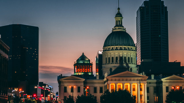 St Louis Courthouse at Sunset