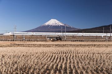 Tokaido shinkansen and Mt.Fuji
