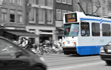Tram in Amsterdam