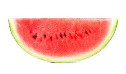 single piece of watermelon isolated on white background