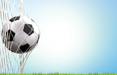 soccer football ball goal 3d rendering