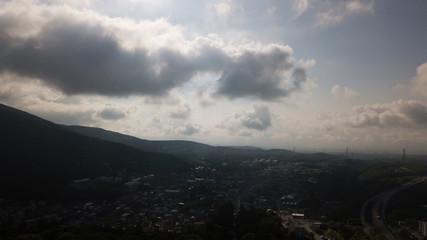 [空撮写真]ドローン空撮 青空と山