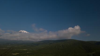 [空撮写真]上空からの富士山