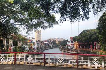 The river in Melaka, Malaysia.
