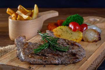 Black pepper chicken breast steak