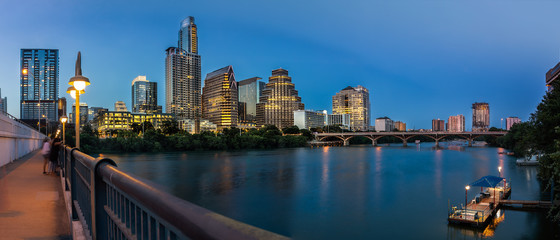 Wall Mural - Austin Skyline in the evening