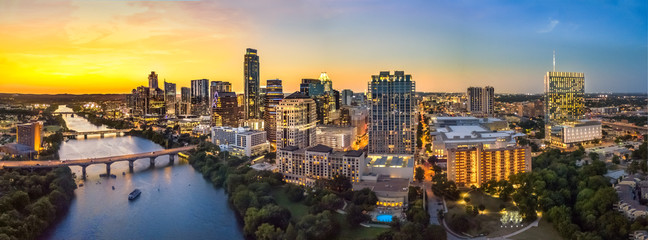 Foto op Canvas Texas Austin Skyline in the evening