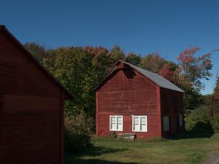 Fall barns in Hudson Valley