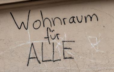 Wohnraum für alle Graffiti