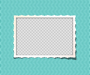 Vector vintage photo frame in album. Just place your image on separate lower layer.