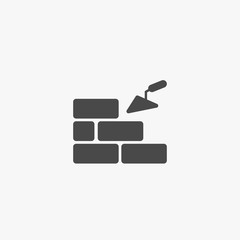 Brickwork vector icon building with bricks eps10
