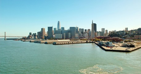 City of San Francisco skyline and water front views