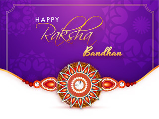 Rakhi, Indian brother and sister festival Raksha Bandhan concept.