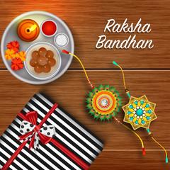 Rakhi, Indian brother and sister festival Raksha Bandhan concept.