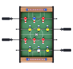 Soccer table game for kids in top view