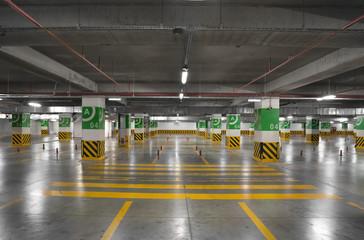 Underground parking Garage.Many Free places.