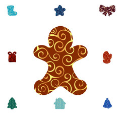 Gingerbread Man pattern silhouette christmas holiday