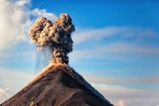 El Volcán de Fuego, Guatemala, 21.04.2018