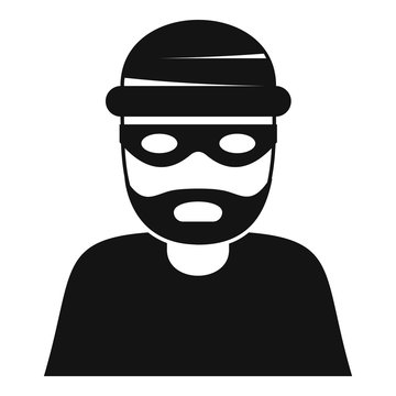 Thief icon. Simple illustration of thief vector icon for web design isolated on white background