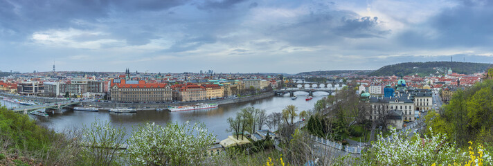 View of Prague from the Prague Metronome, Czech Republic