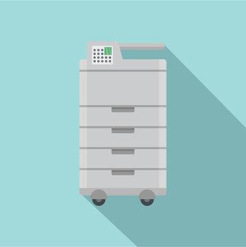 Big office printer icon. Flat illustration of big office printer vector icon for web design