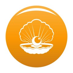 Opened shell icon. Simple illustration of opened shell vector icon for any design orange