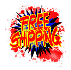Free Shipping Comic Exclamation