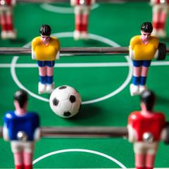 Tisch Fußball in Aktion