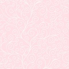 White liana on the pink seamless pattern